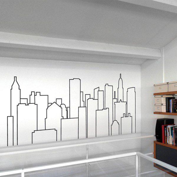 Adesivi Murali Skyline New York.New York Sticasa Adesivi Murali Wall Stickers