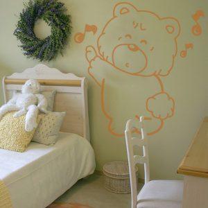 Adesivo Murale per Bambini orsetto canterino