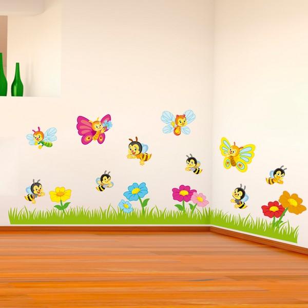 Il giardino felice sticasa adesivi murali wall stickers for Adesivi per pareti