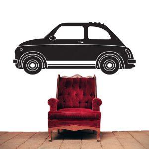 Adesivo Murale Auto Fiat 500