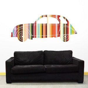 Adesivo Murale Auto 2 Cavalli - STICASA