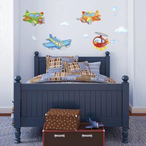 adesivi murali per bambini aerei